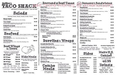 9830 lake forest blvd suite 110. Online Menu of Quillens Taco Shack Restaurant, Titusville, Florida, 32796 - Zmenu