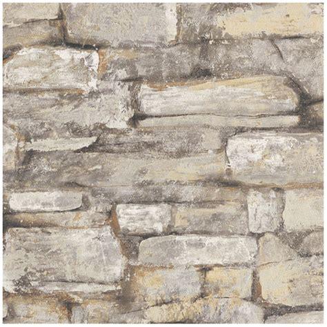 protection mur cuisine papier peint fini pierres plates rona