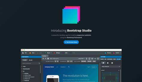 bootstrap design tool bootstrap studio the revolutionary web design tool