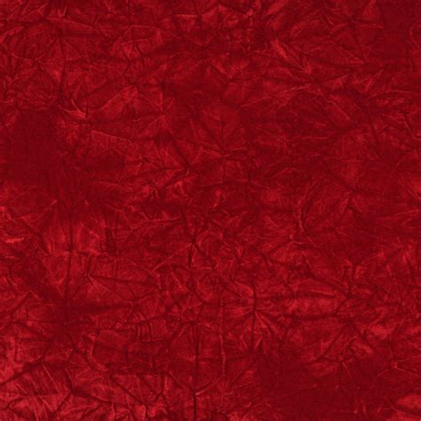 Red Classic Crushed Velvet Upholstery Fabric By The Yard