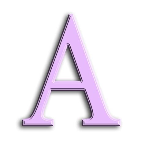 letter a png enchanted s quot purple beveled quot png free 37457