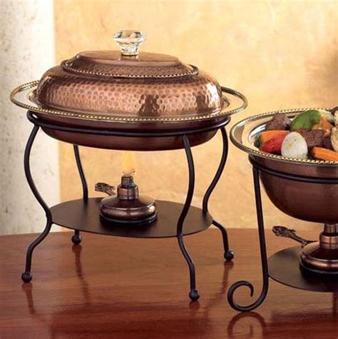 oval  cup copper chafing dish mediterranean chafing dishes atlanta  iron accents