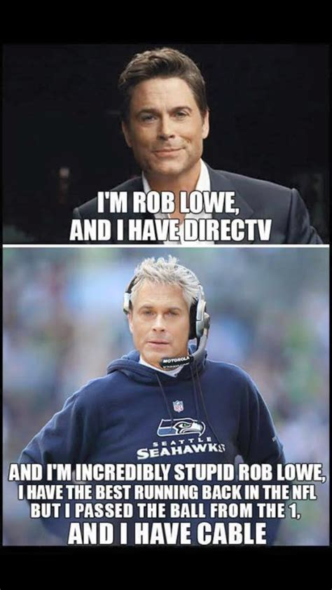 pete carroll rob lowe seahawks direct tv meme sports
