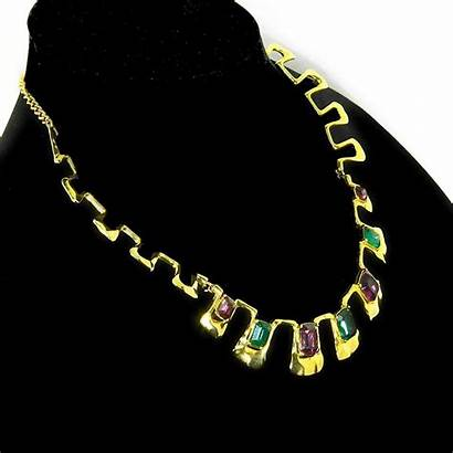 Egyptian Collar Necklace Revival Jeweled Jewelry Kate