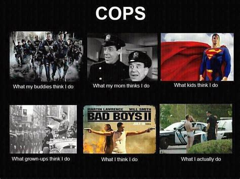 What My Friends Think I Do Meme - what my friends think i do what i actually do cops what my friends think i do what i