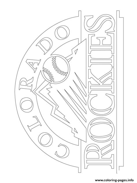 colorado rockies logo mlb baseball sport coloring pages printable