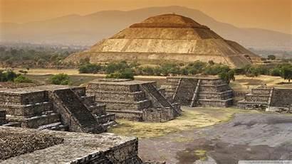Teotihuacan Pyramid Mexico Sun Wallpapers 4k Ruins