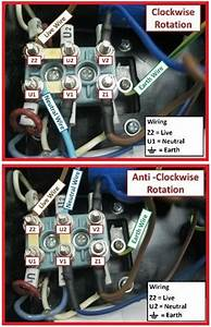 Single Phase Motor Rotation  Clockwise  U0026 Anti Clockwise