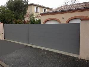 Portail Battant 5 Metres : portail coulissant design lame large 220 arrow sur ~ Nature-et-papiers.com Idées de Décoration