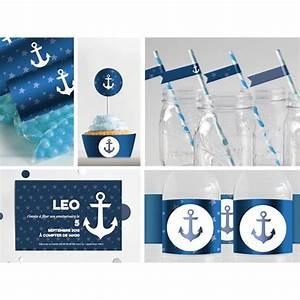 Decoration Theme Mer A Faire Soi Meme : kit de f te imprimer marin bleu marine ~ Preciouscoupons.com Idées de Décoration