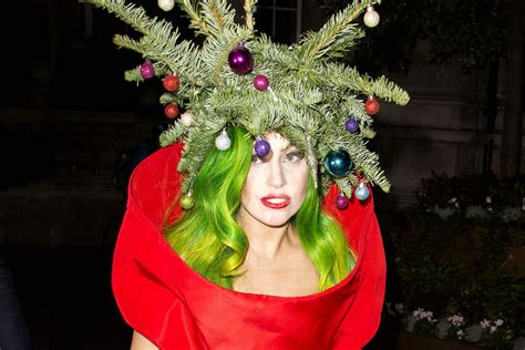 gaga christmas tree mp3 festive gaga dresses as a tree page six