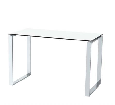 glass and chrome desk modern personal desk in miami area