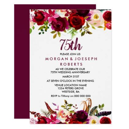 elegant burgundy floral  wedding anniversary