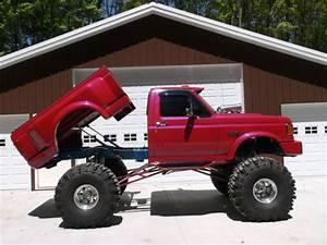 1989 Ford F150 4x4 Shortbox Stepside Custom Show Truck For