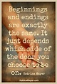 Quotes About Beginnings And Endings. QuotesGram