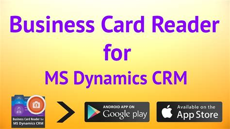 Business Card Reader For Microsoft Dynamics Crm