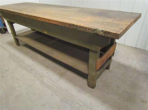 butcher block workbench vintage industrial butcher block workbench table wooden