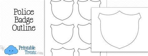 printable police badge outline crafts  church