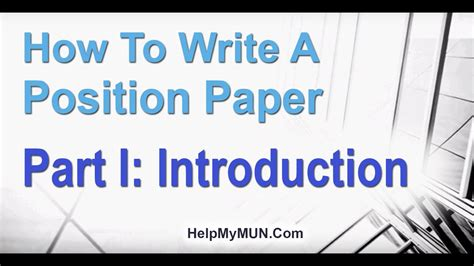 write  mun position paper introduction  mun position paper youtube