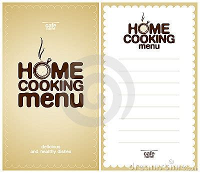 home cooking menu design template royalty  stock