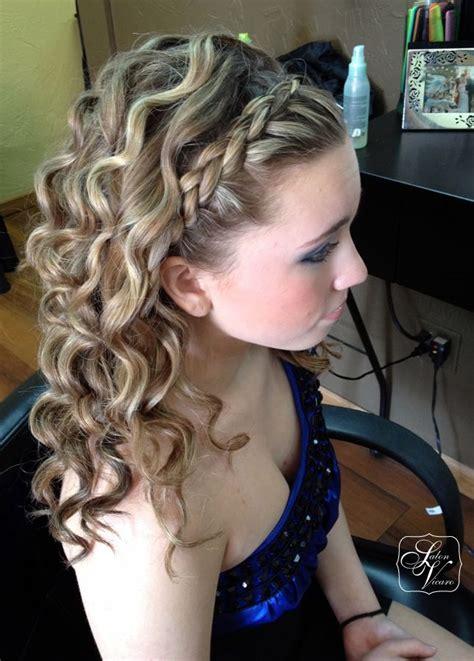 prom hairstyles  braids  curls