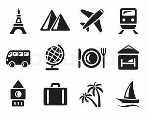 Travel icon set | Stock Vector | Colourbox