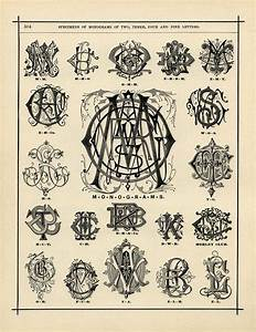 specimens of monograms free vintage graphic old design With vintage monogram letters