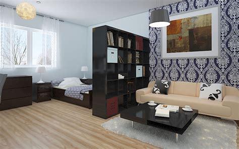 Cozy Minimalist Living Room Of Studio Apartments Interior