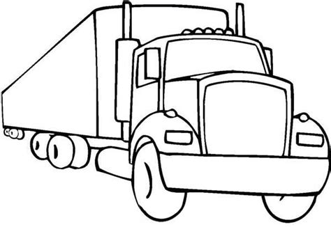 wheeler semi truck illustration coloring page  print  coloring pages