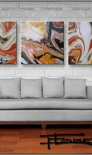 Extra Large Abstract Painting, Modern Art, High Gloss ...