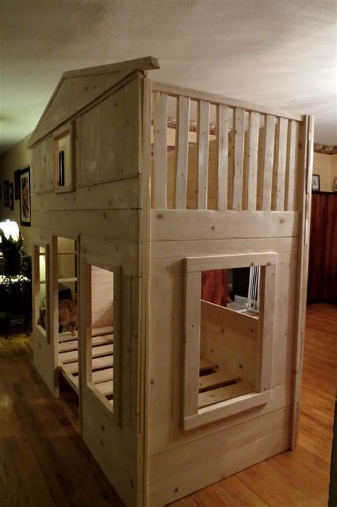 ana white cottage loft   bunk boost diy projects