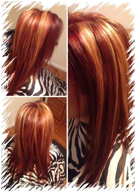 images  red hair blonde highlights