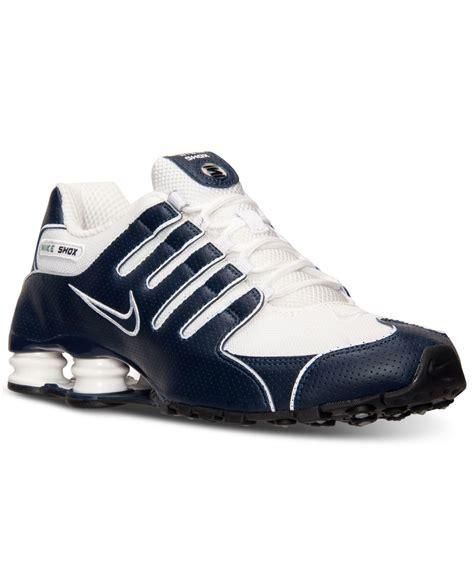 lyst nike mens shox nz running sneakers  finish