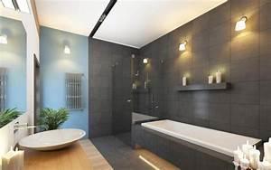 Luminaire salle de bain moderne comment choisir l39eclairage for Carrelage adhesif salle de bain avec eclairage led au plafond