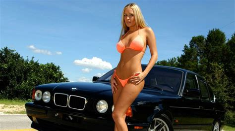 Bmw With Hot Girl Wallpaper