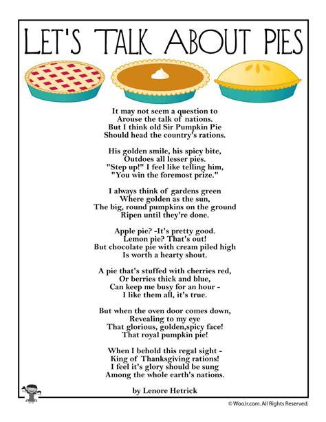 lets talk  pies poem  kids woo jr kids activities