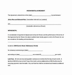 lease agreement template 15 free word pdf documents With room for rent agreement template free