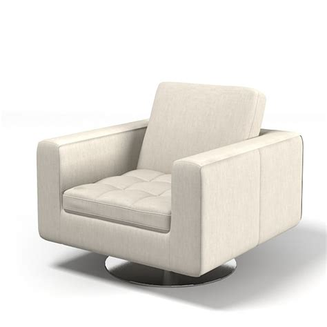Natuzzi Leather Swivel Tub Chair by 3d Model Natuzzi Savoyr Tufted