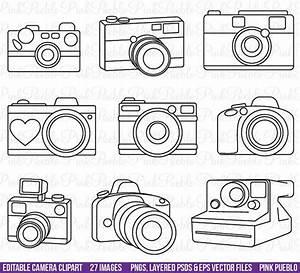 Camera Clipart Clip Art, Photography Logo Elements ...