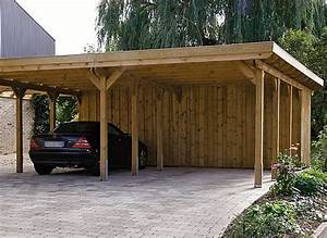 Wood Carports Flat Roof Sloping Roof Braun Wrfele
