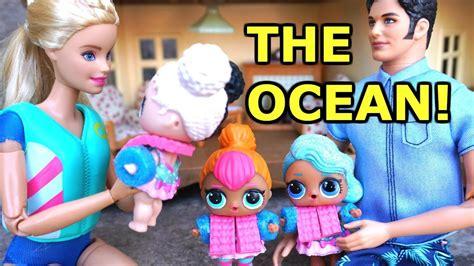 barbie ken  lol surprise dolls drive   beach
