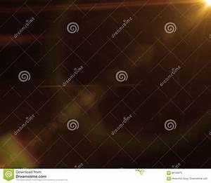 Realistic, Digital, Lens, Flare, In, Black, Background, Stock