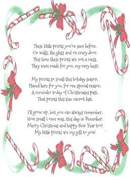 christmas handprint poem  sherrie orestis teachers pay