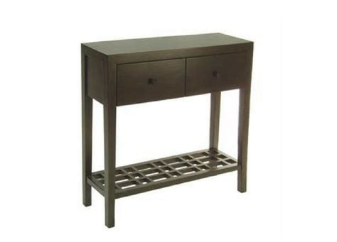 3 Chairs Arbor Mi by Metro Console Table 2 Drawer With Lattice Shelf Three
