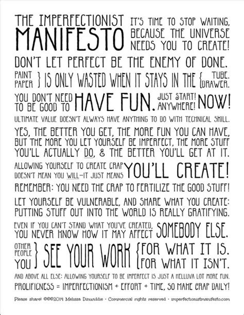 manifesto template new poster graphic plus the perils of preaching imperfectionism living a creative with