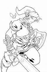 Link Zelda Breath Coloring Wild Pages Linework Deviantart Edwinhuang Sketchite Sketch Credit Larger sketch template