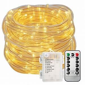 Led Lichterschlauch 10m : led lichterschlauch au en glime 10m 100 leds lichterkette mit batterie schlauch warmwei 8 modi ~ Buech-reservation.com Haus und Dekorationen
