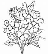 Posies Pretty Coloring Embroidery Flower Flowers Pattern Patterns Drawing Joann sketch template