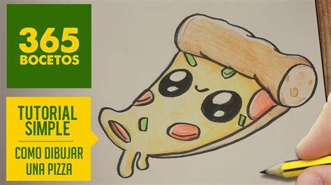 Como Dibujar Una Pizza Kawaii Paso A Paso  Dibujos Kawaii