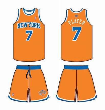 Knicks York Clipart Uniform Alternate Basketball Nba